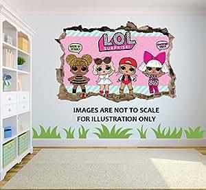 Lol Surprise Dolls 3d Effect Wall Sticker Suitable For