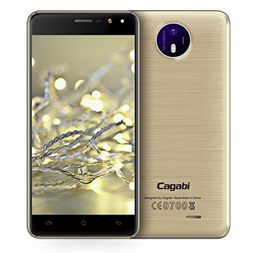 """Preisvergleich Produktbild samLIKE Vkworld Cagabi Ein 3G Smartphone 5.0 """"IPS-Bildschirm Android 6.0 MTK6580A Quad Core 1.3G 1G + 8G Dual-Blitzlicht 2.5D CPT Glas EU Stecker (gold)"""