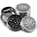 Formax420 Zinc Alloy Tabac Broyeur 50 mm 4 Piece with Pollen Catcher Free Scraper
