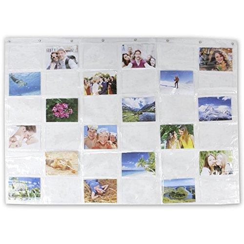 MIK funshopping Tenture pour affichage de 36 cartes/photos au format 13 x 18
