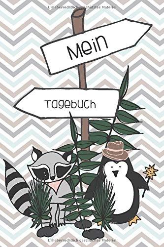 Mein Tagebuch: Achtsamkeitstagebuch für Kinder und Jugendliche - Positivtagebuch für Kinder - Pinguin - Geschenkbuch - für 4 Monate, 130 Seiten - ca. DIN A5