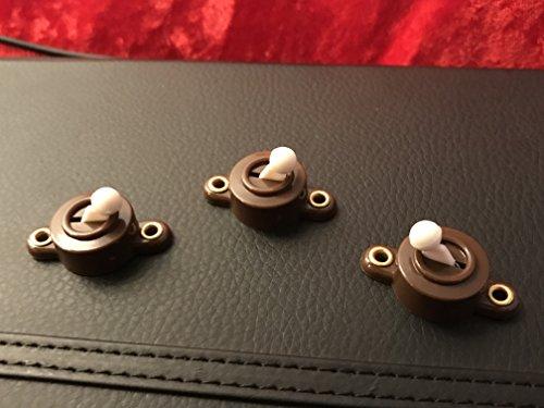 Puppenhaus Zubehör, Ein und Aus Schalter,3 Stck in braun