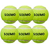 AmazonBrand - Solimo Rubber Tennis Cricket Ball, Set of 6