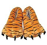 Magicmode Unisex Caliente Suave De La Felpa De La Pata De Garra Zapatillas De Casa De Cosplay Disfraz De Animal Zapatos Tigre M