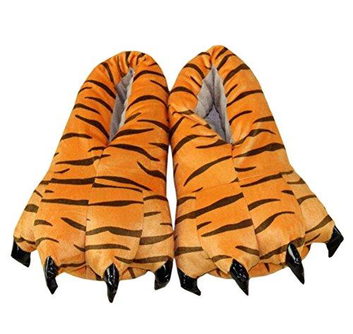 Magicmode Unisex Warm Weich Plüsch Pfote Klaue Haus Hausschuhe Cosplay Tier Kostüm Schuhe Tiger ()