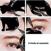 Mujeres Cat Line Eye Eyeup Eyeliner Stencils Templates Elegantes herramientas de maquillaje
