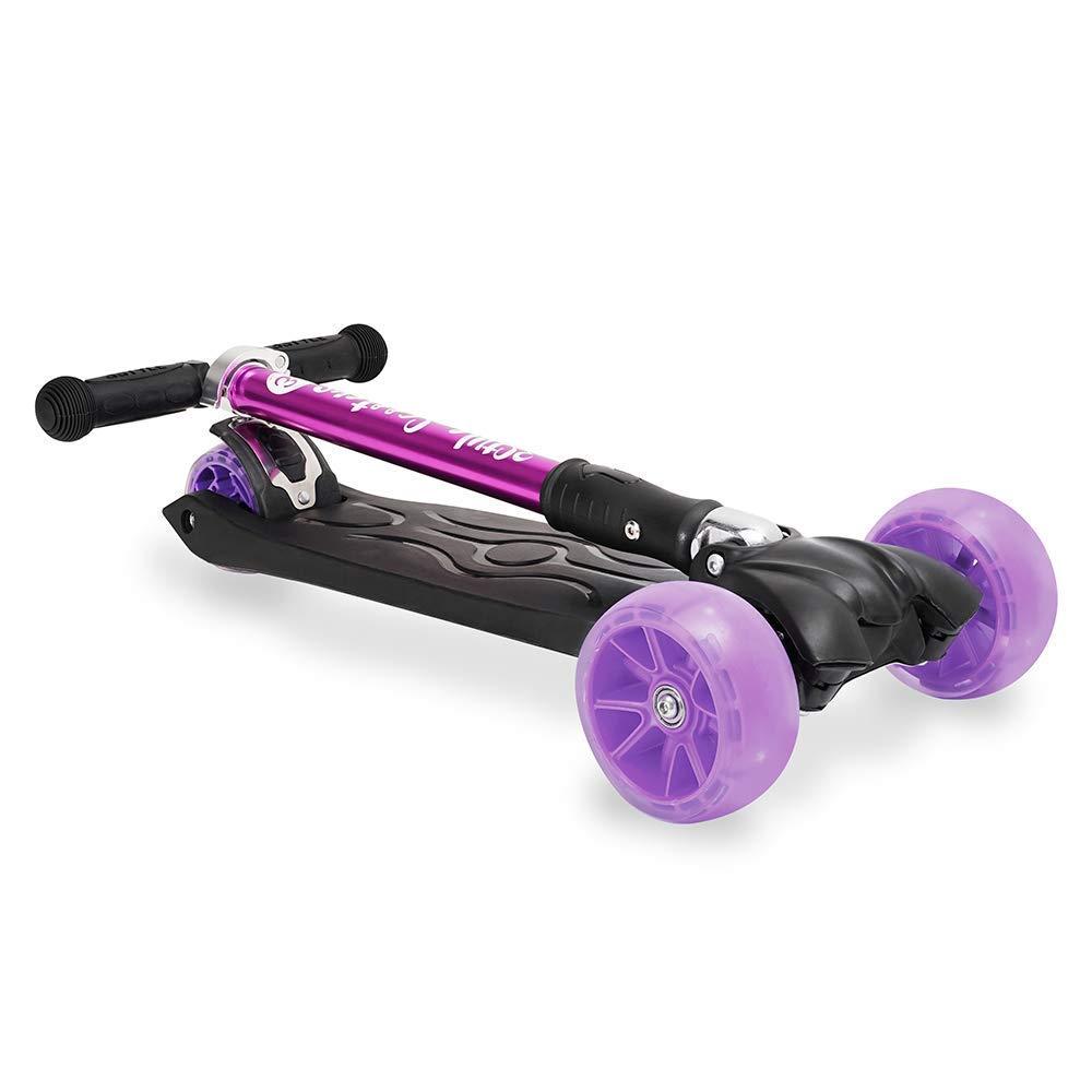 mit LED-R/ädern 3Style Scooters Tretroller RGS-3 T-Lenker Tretroller f/ür Kinder und Erwachsene 3 R/äder