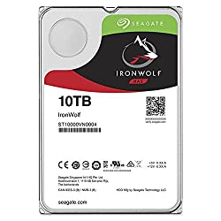 Seagate Ironwolf NAS 10TB SATA 6GB/s NCQ 256MB Cache 3.5 Internal Bare Drive (ST10000VN0004)