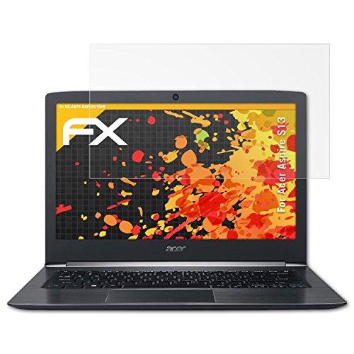 atFolix Panzerfolie kompatibel mit Acer Aspire S13 Schutzfolie, entspiegelnde & stoßdämpfende FX Folie (2X)