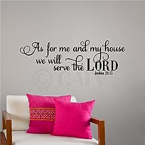 wandaufkleber mit bibelzitat b 86 x h 32 cm auf englisch k che haushalt. Black Bedroom Furniture Sets. Home Design Ideas