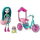 Mattel Enchantimals FCC65 Puppe Taylee Turtle und Fahrrad