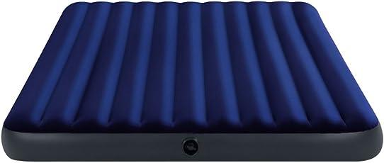 Intex Luftbett Classic Downy Blue King, Blau, 183 x 203 x 22 cm