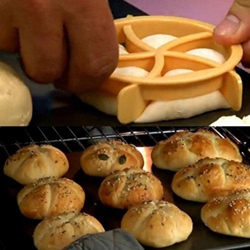 Silikonform, BZLine® Plätzchen-Presse-selbst gemachte Brot-Rollen formt Stempel-Backen