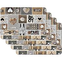 Venilia Love IN The Air Salvamanteles, Mantelería, Mantel Individual para el Comedor, Apto para Alimentos, 4 tajada, 45 x 30 cm, 59068, 30 x 45 cm