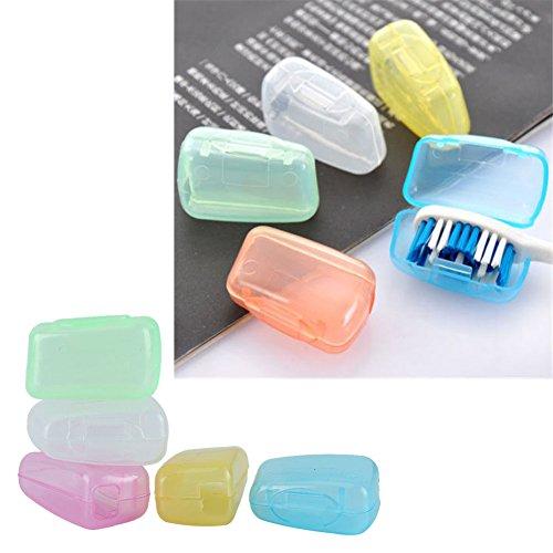 10Pcs Zahnbürstenköpfe Schutzkappen Abdeckung Case Cover Set Reisen im freien ( Zufällige Farbe )
