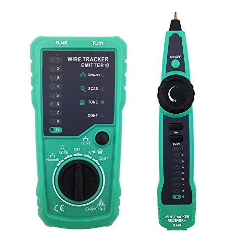 Preisvergleich Produktbild Protmex FY869 Multifunktions Wire Tracker RJ11 RJ45 Kabeltester für die Kollation des Netzwork Kabels, Telefonkabel , Durchgangsprüfung, die schwache Batterieanzeige