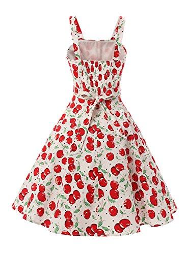 Rockabilly Vintage 50er Jahre Polka Dots Kleid knielang mit Faltenrock - 4