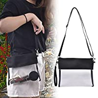 Beesuya Clear Bag Clear Tote Bag with Zipper Closure Cross-Body Messenger Shoulder Bag Waterproof Adjustable Strap for Work Sports Games conventional
