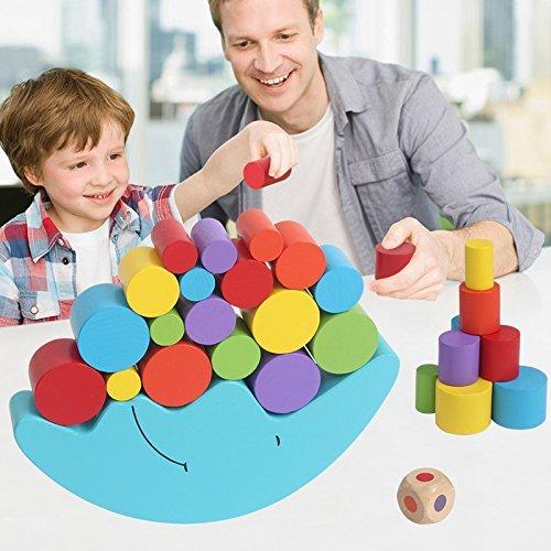 Bloques apila y descubre Bloques de Construcción infantiles de Juguete Equilibrio de...