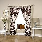 Threadmix Brown Polyester Door Curtain (...