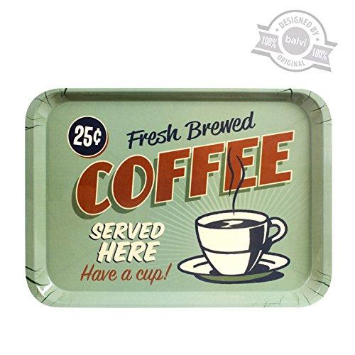 Balvi 25940Bandeja Best Coffee Served Here - Melamina Verde