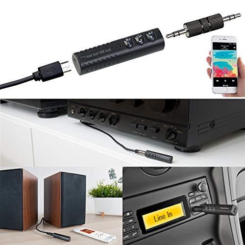 auvisio Audioadapter für HiFi-Anlage/Kopfhörer, Freisprech-Funktion, Bluetooth