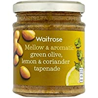 Pasta De Aceitunas Verde Limón Y Cilantro Waitrose 165G - Paquete de 4