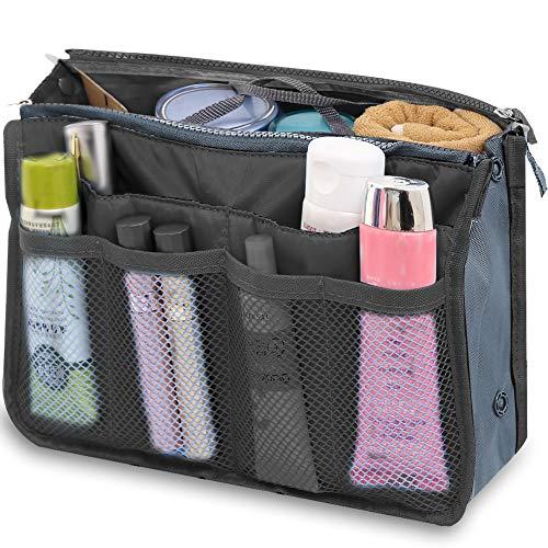 Reise-Organizer-Tasche, Kulturtasche multifunktional Handtasche, Organizer Kosmetiktasche, Make-up-Tasche für Männer und Frauen (Schwarz)