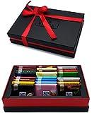Ritter Sport Geschenkset - 24 zufällig ausgewählte Sorten (inklusive Saison Tafeln), verpackt in sehr hochwertigem Geschenkkarton, perfekt z.B. als Geburtstagsgeschenk