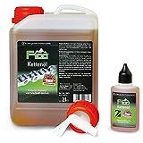F100 Kettenöl 2 liter Kanister mit Auslaufhahn+50ml Tropfflasche 2050ml Fahrrad