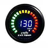 Auto 52mm Zusatzinstrument Abgastemperaturanzeige Night Flight Digital-Analog-geführte Abgastemperatur Temperatur Egt Schalttafel