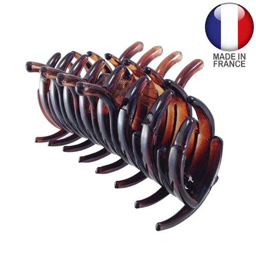 293 – 003 – Pince pour cheveux français tubulaire cm 6 – Tortue – Pinces pour Cheveux