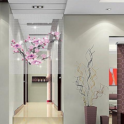 FOKN Beaded Bead Curtain Creative Painted Curtain Bead Curtain Crystal Curtains Hanging Curtain Crystal Bead