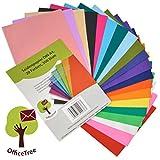 OfficeTree Seiden-Papier 300 Blatt A4-20 Farben - mehr Spaß am Basteln Gestalten Dekorieren - Skizzen- und Zuschnitt-Papier - 16 g/qm Premium-Qualität