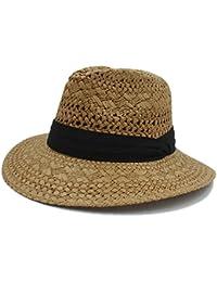 GBY Estate Donna Uomo Rafia Paglia Cappello da soleGentleman Fedora cap Sun  Hat (Colore   da466ef1082a