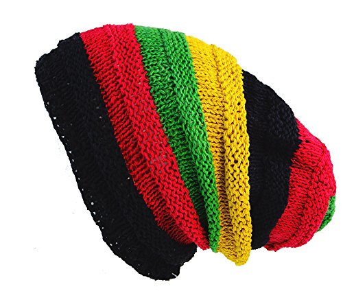 Guru-Shop Beanie, Dread Head Mütze, Nepalmütze, Herren/Damen, Rasta, Baumwolle,...