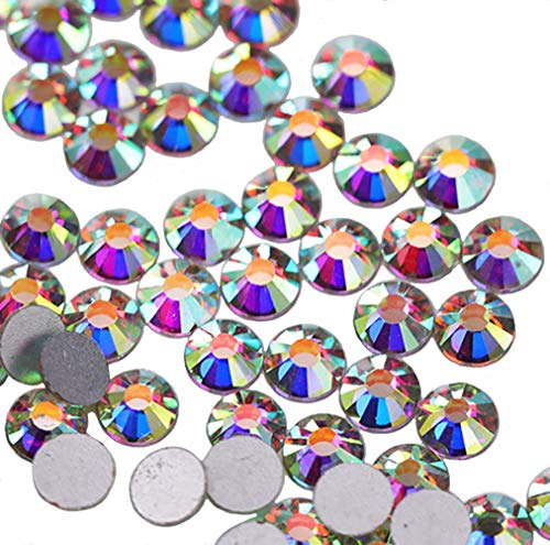 Jollin - strass da incollare con base piatta, in vetro con taglio a diamante, Cristallo AB., SS20 1440pcs