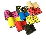LisaCare Fixierbinde 7,5cm x 4,5m | 9er-Set mit Motiven & Farben | Kohäsive Bandage | Wundverband | Pflasterverband | elastisch, dehnbar, selbsthaftend, ohne Kleber