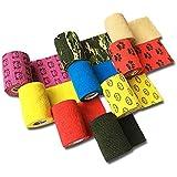 LisaCare Fixeerverband 7,5 cm x 4,5 m | Set van 9 met motieven & kleuren | Cohesief bandage | Wondverband | Elastisch, rekbaa