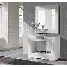 ch design recibidores modernos consola twin blanca ibergada