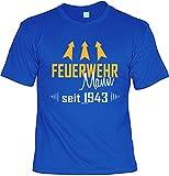 Tini - Shirts T-Shirt 75 Geburtstag - Geburtstagsshirt Sprüche Jahrgang 1943 : Feuerwehr Mann Seit 1943 - Geschenk-Shirt Zum 75.Geburtstag Mann Gr: XXL