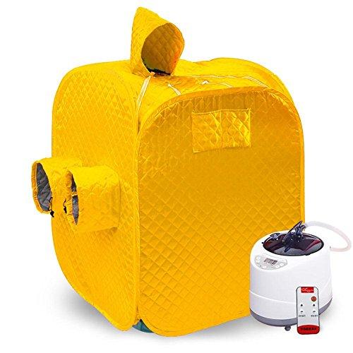 SPA Sauna Box Outdoor Sauna 2 Personen Faltung Sauna Sauna Box Infrarot Home Spa Negative Ionen Detox Tragbare (Lila) , yellow