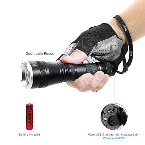 Usb-netzteil-taschenlampe (LED Taschenlampe Taktische Zoombar Taschenlampen , USB Wiederaufladbare CREE LED Zoombare Handlampe Licht Super hell 1200 Lumen, Wasserdicht IP68, 5 Modi ,mit 18650 Akku, Outdoor Camping Wandern)