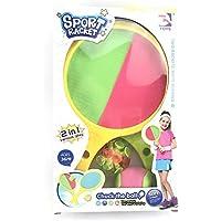 Youbeny Juego de Raquetas de Juego Toss & Catch, paletas de Disco y Juego Deportivo Toss Ball, Juego Deportivo Toss Ball Sport Toys para niños Playa al Aire Libre para niños de 3-8 años