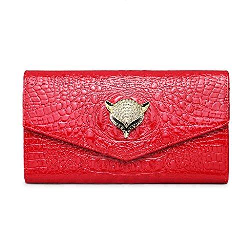 CLOTHES- Europa und die Vereinigten Staaten Leder Umschlag Handtasche Clutch Bag Lady Taschen Handtasche Chain Pack Damen Dinner-Paket ( Farbe : Rot ) (Für Frauen Verkauf Coach-taschen)