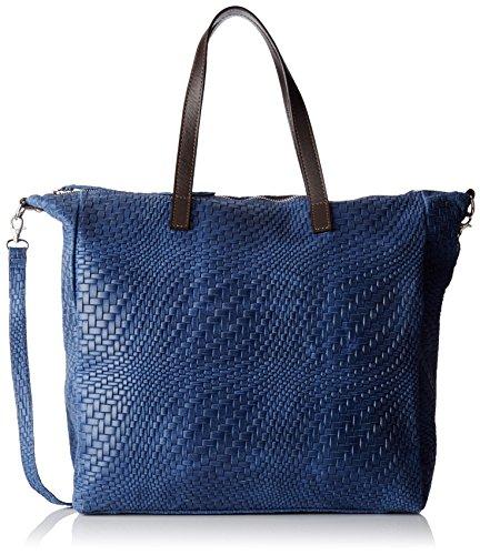 Chicca Borse 80058, Borsa a Tracolla Donna, 36 x 36 x 13 cm (W x H x L) Blu