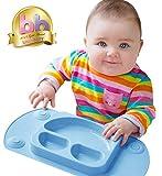 Mini easymat® für Hochstuhl und Travel Füttern. Tragbar Baby Saugnapf Teller & Tisch-Sets in 1 mit Deckel, klappbarer Seiten & Carry Fall. Kleine Sektionaltor Baby Teller perfekt für Baby Abstillen Alter 6 Monat + von Tots R Us