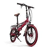 eBike_RICHBIT Vélo Électrique Pliant Vélo Électrique 250W Avec Amovible...