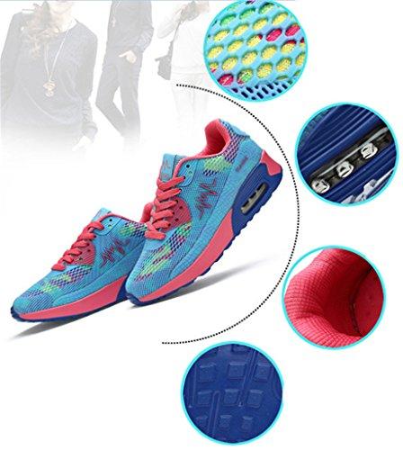 NEWZCERS , Chaussures d'athlétisme pour femme Bleu