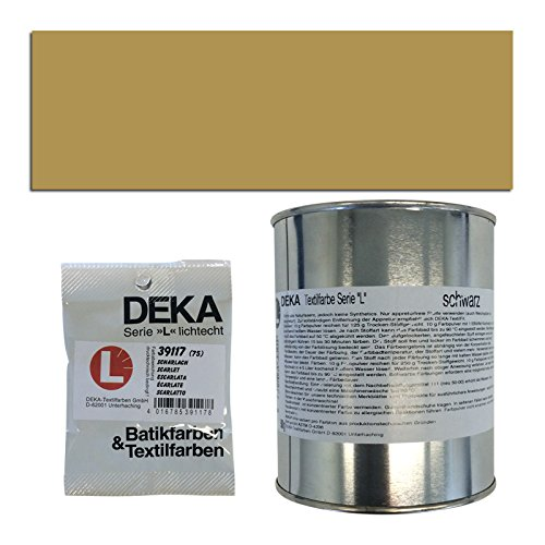 NEU DEKA-Textilfarbe Serie L, 500g, Altgold Serie Textil